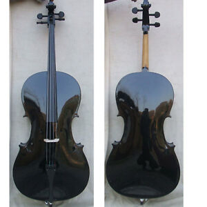 Orchestral Forceful Black 4/4 Electric Acoustice Cello Outfit Beaut+bow+bag #1766 Agreeable To Taste