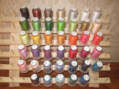 40 Spool Polyester Embroidery Machine Thread FREE SHIP