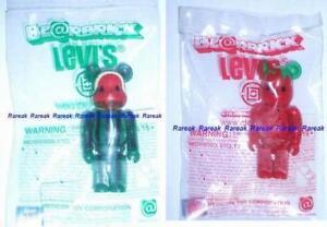 Be-rbrick-Levis-Clot-Juice-Strawberry-amp-Watermelon-100-2P-Bearbrick-set-2pcs