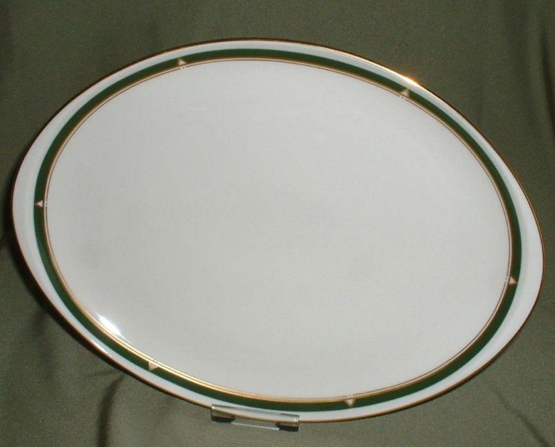 Fürstenberg 654 FÜRSTIN 3765 TRIGON  Platte oval 32 cm