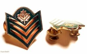 Canada-Canadian-Forces-Sergeant-Green-and-gold-Uniform-metal-rank-collar-badges