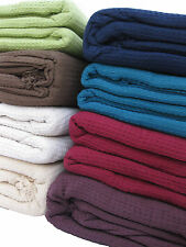 LARGE 100% Cotton Woven Sofa / Bed Throw 9 Colours & 5 Sizes + Giant Jumbo Size