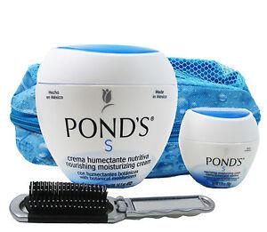 Ponds-Gift-Set-Nourishing-Moisturizing-Cream-Travel-Bag-Hairbrush-14-1oz