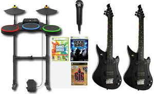 XBox 360 Rock Band Hero 2 GUITARS Power Gig Drums Games ...