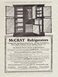 MCCRAY-Wooden-REFRIGERATOR-Antique-1900-039-s-Oak-ICE-BOX-Chest-Vintage-REPRINT-AD