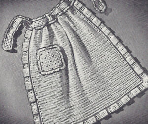 vintage crochet pattern dotted swiss apron curtains pad | ebay