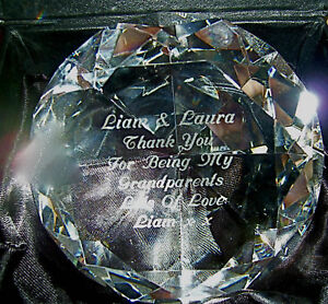 Paperweights-Sparkling-Diamond-Cut-Shape-Personalised-Engraving-Free-Gift-Boxed