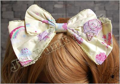Lolita princess diary rainbow sundae Fraisier maid dolly bow headband Y JM6004B