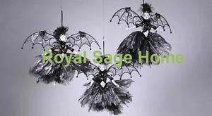 Katherine-039-s-Collection-Halloween-Bat-Fairy-Ornament