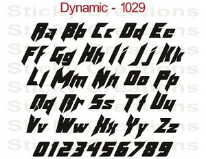 1029 CUSTOM LETTERING Vinyl Letters Customized Decal Sticker Fancy