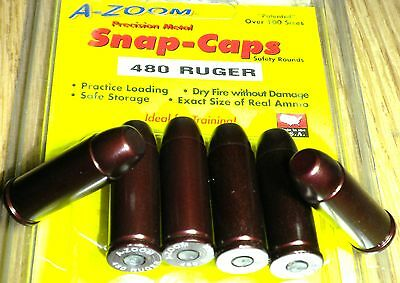 16146 A-ZOOM Action Proving Dummy Round Snap Caps for 480 RUGER * 6 Pack # 16146