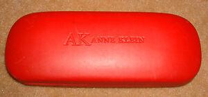ANNE-KLEIN-AK-EYEGLASSES-Case-Pouch-Eye-Glasses-Cover-Travel-Hard-CASE-Red
