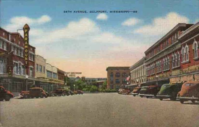 XA476 Vintage Linen Gulfport Mississippi Miss MS 26th Avenue Diner Paramount