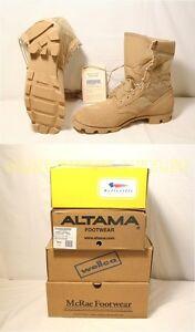 NIB-US-Military-Army-COOLMAX-Desert-Tan-COMBAT-BOOTS-Sizes-4-14-146-USA-MADE