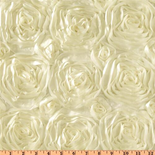 """Rosette Satin Overlays 72/""""x72/"""" Lot 10 Square Table Covers Ribbon Grandiose Rose"""