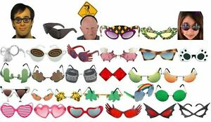 Party-Sunglasses-Glasses-Shades-Sunnies-Funny-Novelty-Birthday-Luau-Holiday-Cool