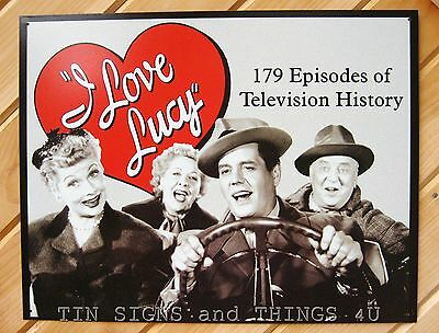 I Love Lucy 179 Episodes TIN SIGN funny vtg tv show metal poster wall decor 765