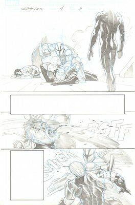 Ultimates, The #4 p.11 - Thor gets his ass kicked - 2011 art by Esad Ribic