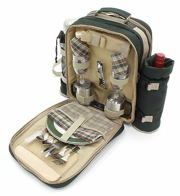 Super Deluxe Picnic Backpack for 2, Picnic Hamper, Picnic Rucksack, Picnic Bag