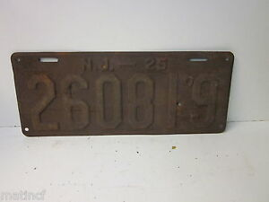 1925-New-Jersey-License-Plate-034-N-J-24-260819-034-All-Numbers-No-Letters