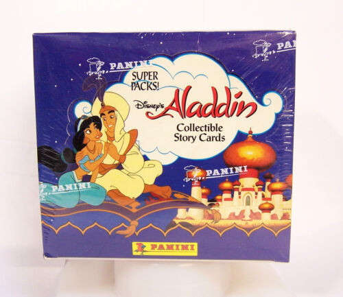 Disney's Aladdin Collectible Story Movie Trading Cards 24 Super Packs Box Panini