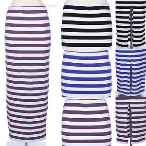 Striped-Cotton-Full-Long-Maxi-Skirt-with-Elastic-Waistband-Cut-Out-Opening-Back