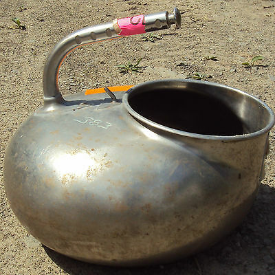 STAINLESS GOAT MILKING PAIL BUCKET WITH HANDLE