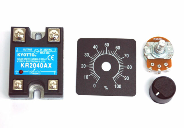 5pc KYOTTO AC Solid State Relay SSR KR2040AX 280VAC 40A [ VR to AC ]