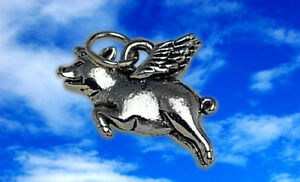 ... -silver-925-when-pigs-fly-flying-wings-charm-pendant-Wing-jewelry