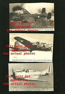 1942-World-War-II-photo-postcard-lot-of-8-planes-Y8