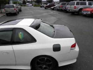 97 01 honda prelude bb6 5th gen jdm rear roof visor for 2001 honda civic rear window visor