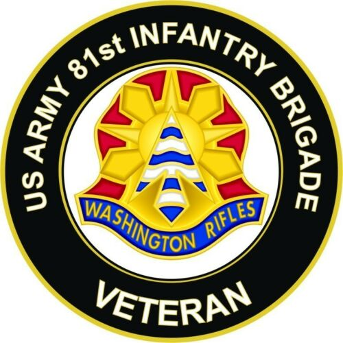 "81st Infantry Brigade Veteran 5.5/"" Unit Crest Sticker /'Officially Licensed/'"