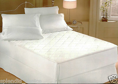QUILTED MATTRESS PROTECTOR SINGLE DOUBLE KING SUPER KING PILLOW CASES TOP Q