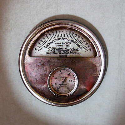 "OSCILLOMETRE GAUGE Round Fridge Magnet, Steampunk, 2.25"""
