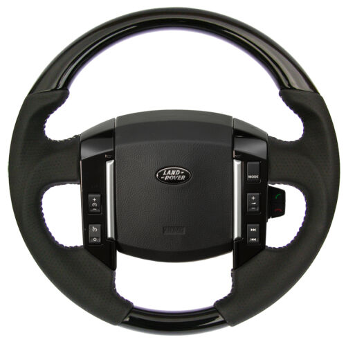 RANGE ROVER SPORT  BLACK WOOD & PERFORATED LEATHER STEERING WHEEL