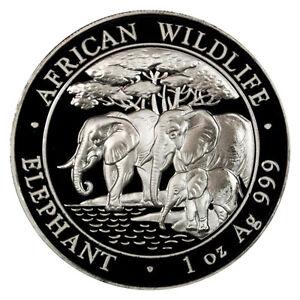 2013-Somalia-1-Oz-Silver-Elephant-100-Shillings-Gem-Uncirculated-SKU26867