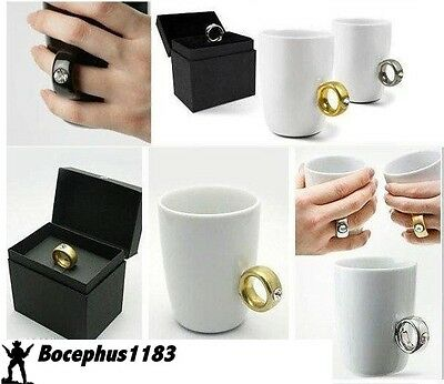 """Lover's """"Diamond"""" Ring Coffee Mug Cup unique / gag Gift New Arrival! USA Seller"""