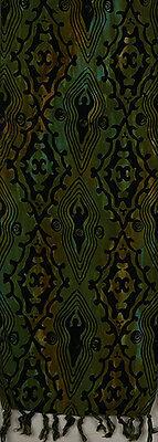 Batik Rayon Scarf - Goddesses on Green