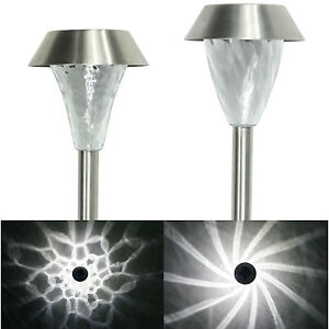 New-16-Pack-Outdoor-Stainless-Steel-LED-Solar-Landscape-Path-Lights-Yard-Lamp