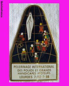RG177-INSIGNE-PELERINAGE-INTERNATIONAL-POLIOS-HANDICAPES-LOURDES-1988