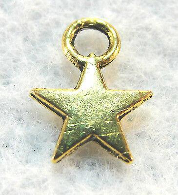 20Pcs. Tibetan Antique Gold Small STAR Charms Pendants Earring Drops  ST27