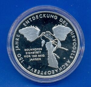 GERMANY-10-Euro-Bird-Archaeopteryx-2011-A-Silver-Proof