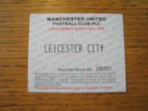 28121994 Ticket Manchester United v Leicester City Junior Season Ticket Vouc - Birmingham, United Kingdom - 28121994 Ticket Manchester United v Leicester City Junior Season Ticket Vouc - Birmingham, United Kingdom