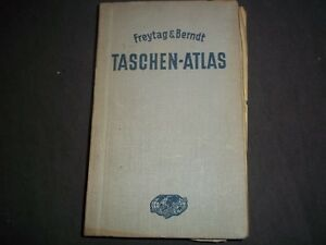 1938-FREYTAG-amp-BERNDT-TASCHEN-ATLAS-COLOR-MAPS-GERMAN-KD-727W