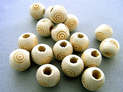 8x9mm 100pcs NATURAL BLANCHED ALMOND WOOD RONDELLE LOOSE BEADS W13843