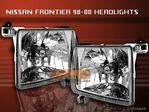 fit 1998 2000 frontier 2000 2001 xterra headlights clear. Black Bedroom Furniture Sets. Home Design Ideas