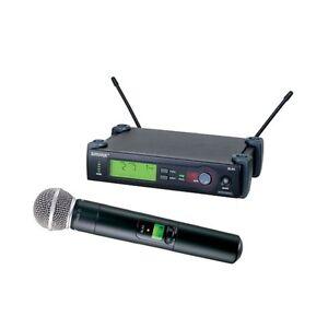 shure slx 24 sm58 wireless handheld cordless vocal microphone system 42406121125 ebay. Black Bedroom Furniture Sets. Home Design Ideas