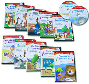 Baby-Genius-Ultimate-Children-039-s-Library-w-10-DVDs-amp-10-CDs-500-Minutes-Music