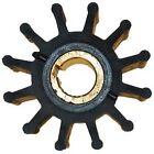 """Jabsco Impellers Neoprene Impeller, 2 7/16"""" X 1/4"""" 5/8"""", 3 Drive, Brass Insert, 12 Blades"""