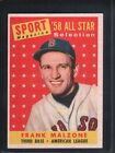 1958 Topps Frank Malzone #481 Baseball Card